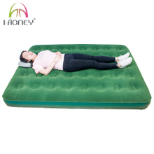 Queen Size Flocking Top Heavy Duty Air Bed Inflatable Mattress